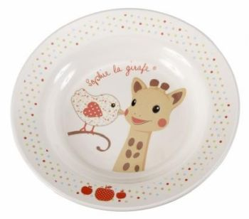 Set pentru masa melamina Girafa Sophie & Kiwi cutie cadou [2]