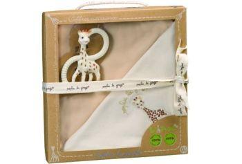 Set pentru nou-nascuti bio So pure - Girafa Sophie0
