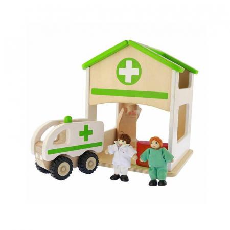 Spital de jucarie, din lemn, +3 ani, Masterkidz, pentru gradinite0