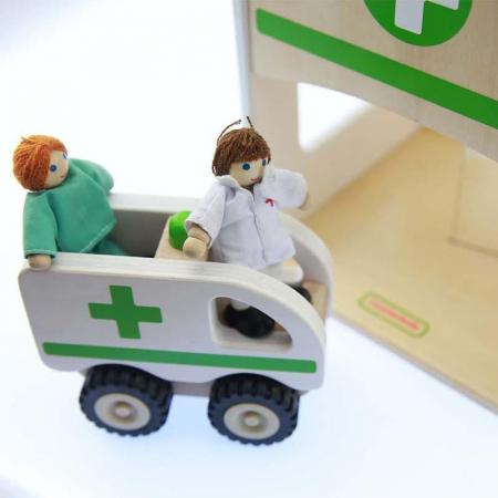 Spital de jucarie, din lemn, +3 ani, Masterkidz, pentru gradinite1