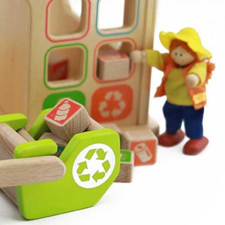 Statie de reciclare de jucarie, din lemn, +3 ani, Masterkidz, pentru gradinite1