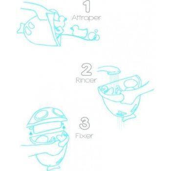 Suport pentru pastrarea jucariilor si a samponului Bubble Fish2