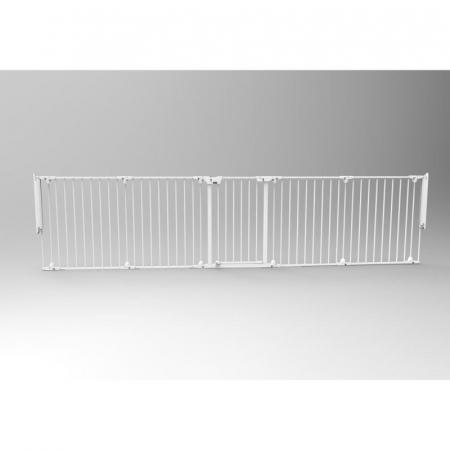Tarc de siguranta modular cu 5 panouri, metal alb, Noma, N940476