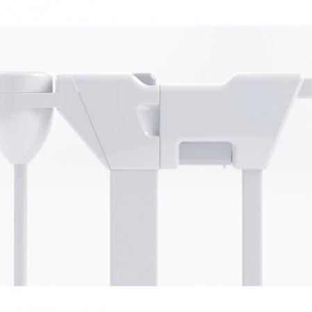 Tarc de siguranta modular cu 5 panouri, metal alb, Noma, N940478
