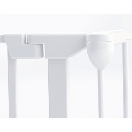 Tarc de siguranta modular cu 5 panouri, metal alb, Noma, N940479