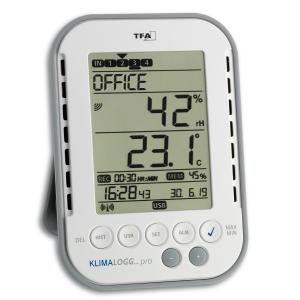Termo-higrometru profesional cu functie de inregistrare a datelor tip Data Logger, KLIMALOGG PRO TFA 30.3039.IT [0]