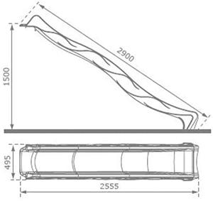 Tobogan HDPE Tsuri Rampa 150 cm Lime Green - KBT [2]