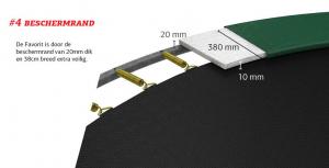 Trambulina Berg Grand Favorit Regular 520x345 Gri cu Plasa Comfort [4]