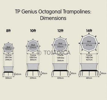 Trambulina copii 8ft TP Genius Octagonal SurroundSafe - TP Toys [2]