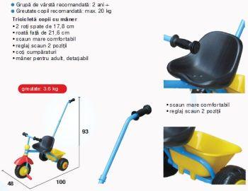 Tricicleta copii T327X- Primii Pasi1