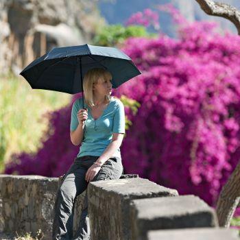 Umbrela de Ploaie 3 in 1 cu Protectie UV si Antivant Blue - Lifeventure
