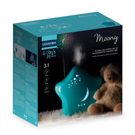 Umidificator de camera cu proiector si lumina de noapte Moony Lanaform4