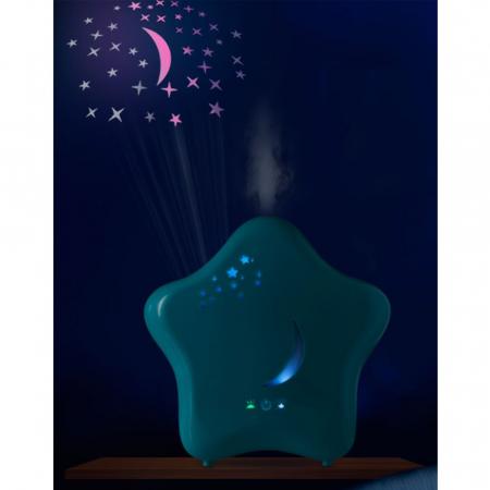 Umidificator de camera cu proiector si lumina de noapte Moony Lanaform1
