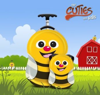 Valiza tip trolley si ghiozdan Cazbi the Bee - Cuties and Pals0