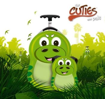 Valiza tip trolley si ghiozdan P-Rex the Dinosaur - Cuties and Pals0