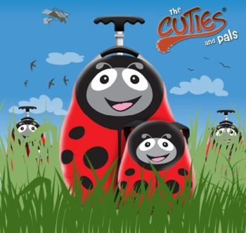 Valiza tip trolley si ghiozdan Polka the Ladybird - Cuties and Pals0