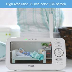 Videointerfon digital bidirectional 5 inch VM5261 cu melodii si unghi reglabil - Vtech [3]
