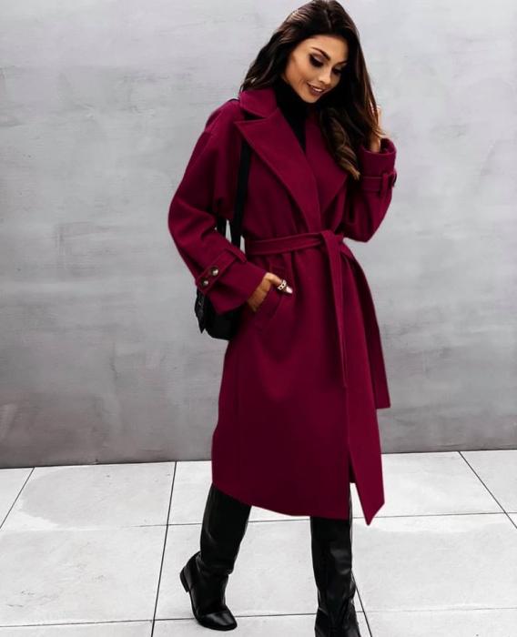 Palton dama clasic bordo [0]