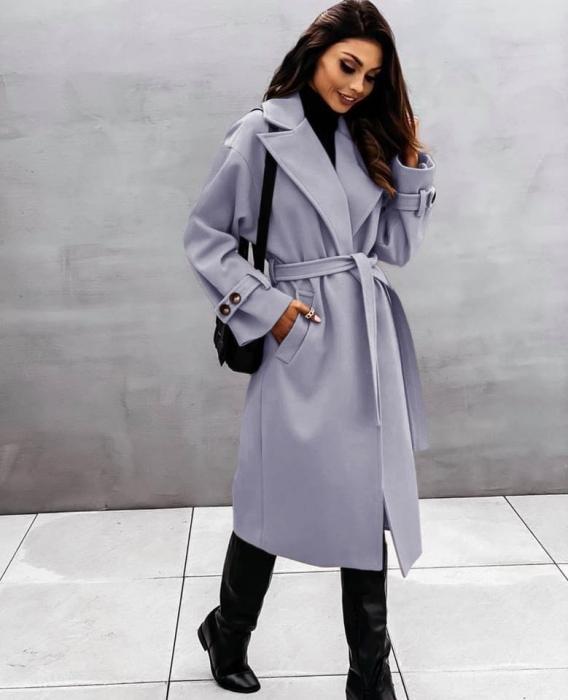 Palton dama clasic gri [0]