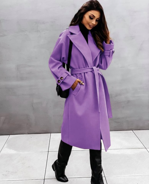 Palton dama clasic mov [0]