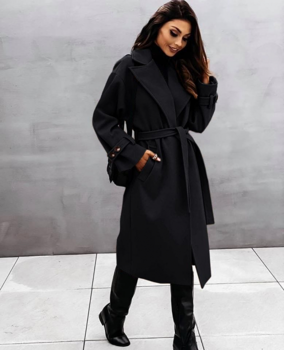 Palton dama clasic negru [0]