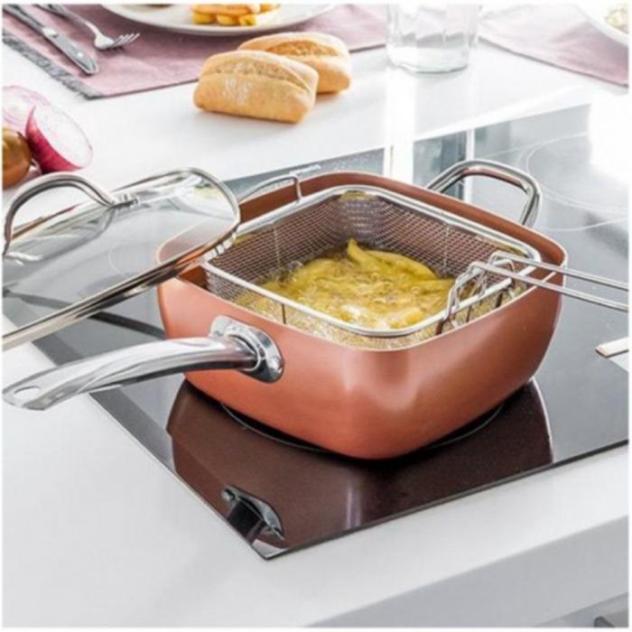 Tigaie Friteuza Multifunctionala Copper Pan 1