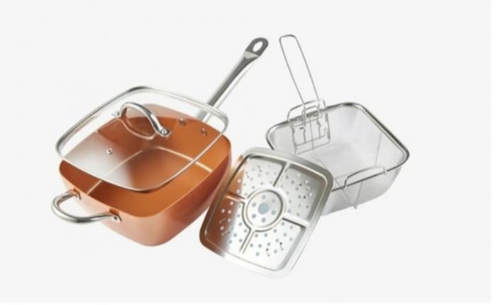 Tigaie Friteuza Multifunctionala Copper Pan 3