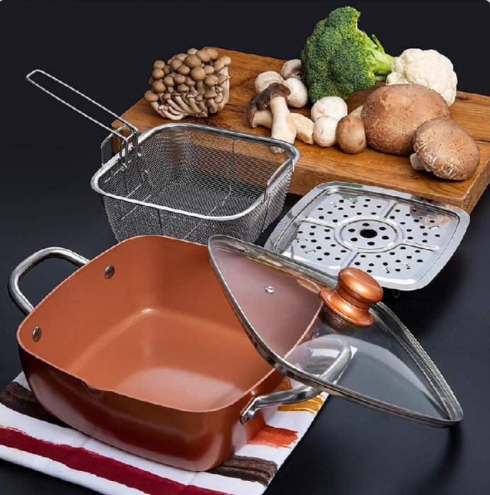 Tigaie Friteuza Multifunctionala Copper Pan 6