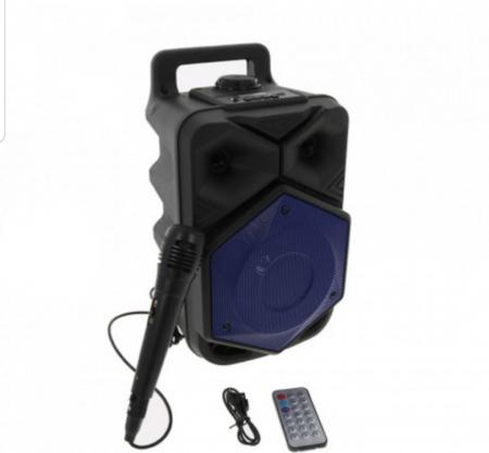 Boxa Portabila BTSPEACKER, Microfon, Telecomanda, Bluetooth, USB, TF-Card, FM, ZQS6120-BLUE [1]