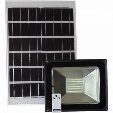 Proiector LED SMD 50W cu incarcare solara (panou)1