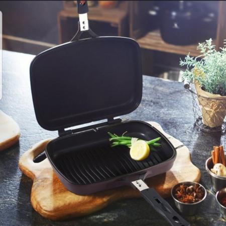 Tigaie doubletta teflonata tip grill, Original Dessini 36 cm [4]