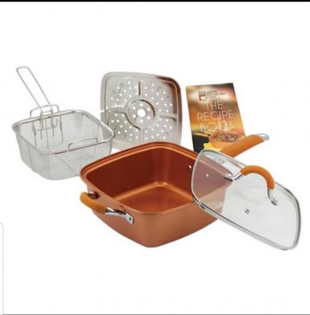 Tigaie Friteuza Multifunctionala Copper Pan2