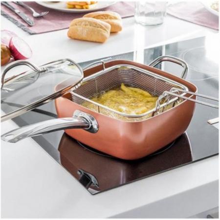 Tigaie Friteuza Multifunctionala Copper Pan1