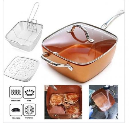 Tigaie Friteuza Multifunctionala Copper Pan7