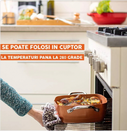 Tigaie Friteuza Multifunctionala Copper Pan5