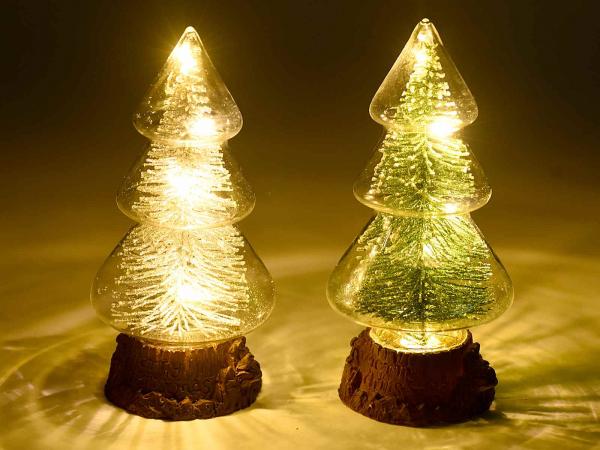 Brazi de Crăciun din sticlă cu lumină LED 1