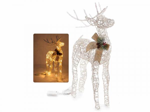 Ren de Crăciun decorativ, cu sclipici și lumini LED 0