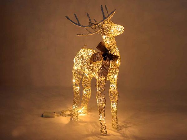 Ren de Crăciun decorativ, cu sclipici și lumini LED 1