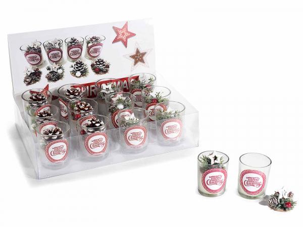 Decorațiune de Crăciun lumânare, în borcan de sticlă [1]