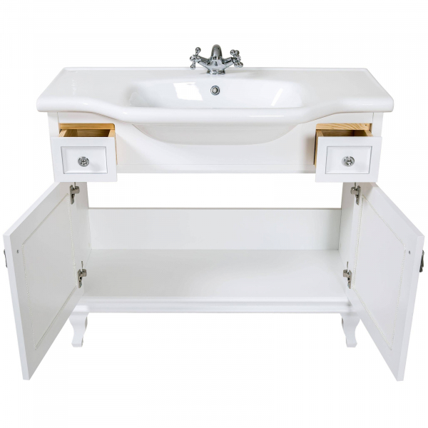 Mobilier de baie BEATRICE de 100 cm alb+crom 3