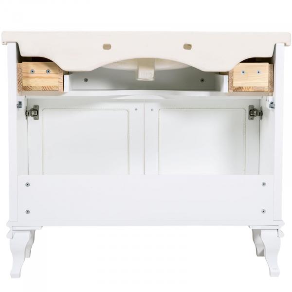 Mobilier de baie BEATRICE de 100 cm alb+crom 5
