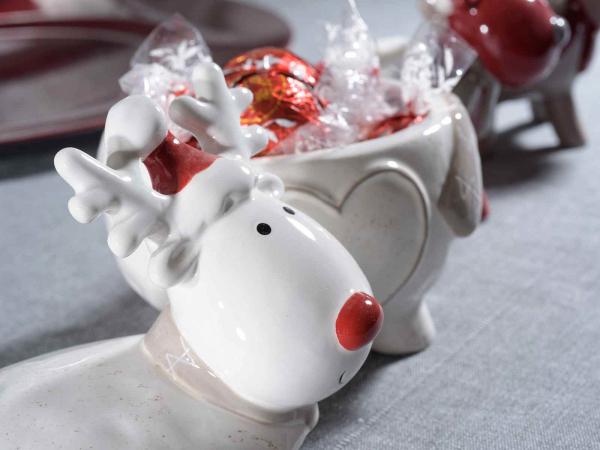 Recipiente de Crăciun din ceramică, pentru dulciuri 1