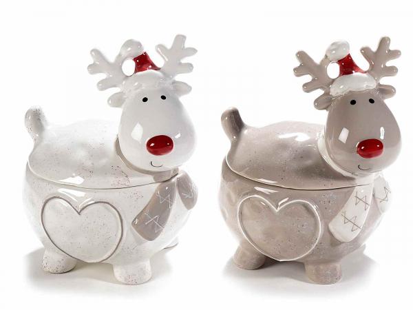 Recipiente de Crăciun din ceramică, pentru dulciuri 0