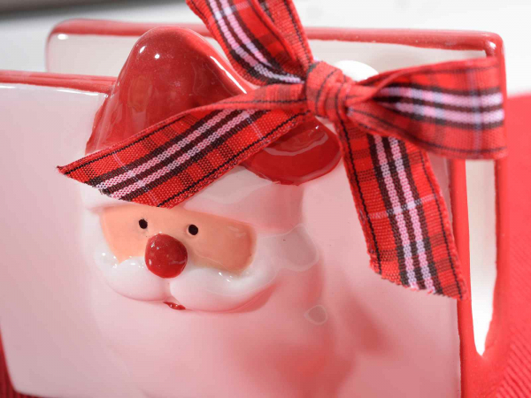 Suport de șervețele cu Moș Crăciun și ren 1