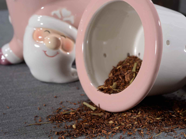 Cupe ceramice cu filtru și capac, model Moș Crăciun 1