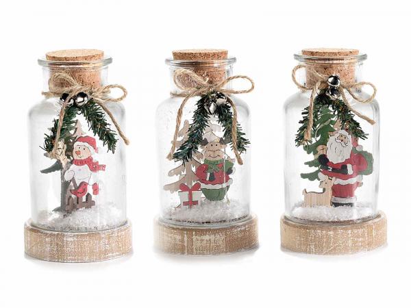 Decorațiune de Crăciun tip borcan cu lumini LED 1