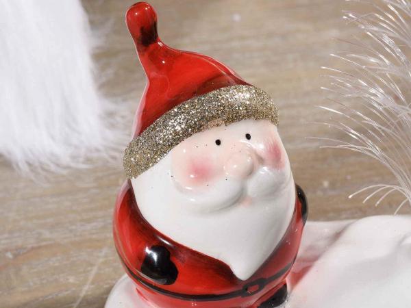 Decorațiune de Crăciun din ceramică cu fibră optică și LED 2