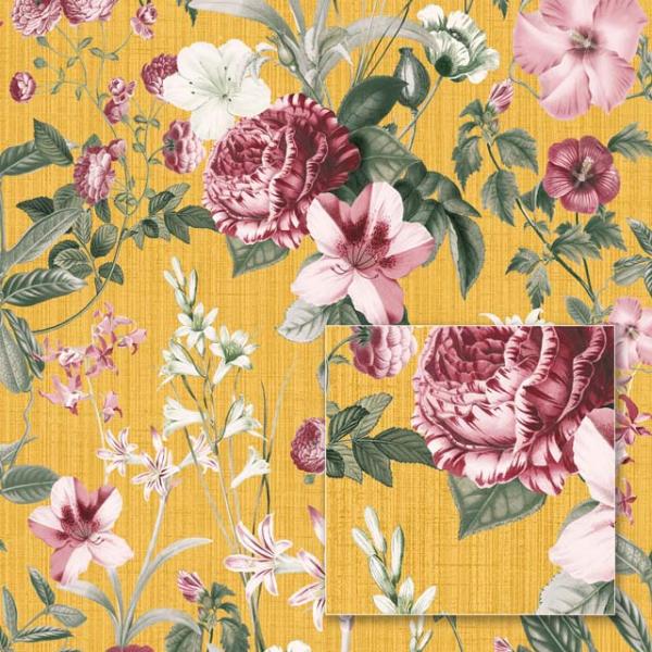 Tapet modern cu flori vișinii 0