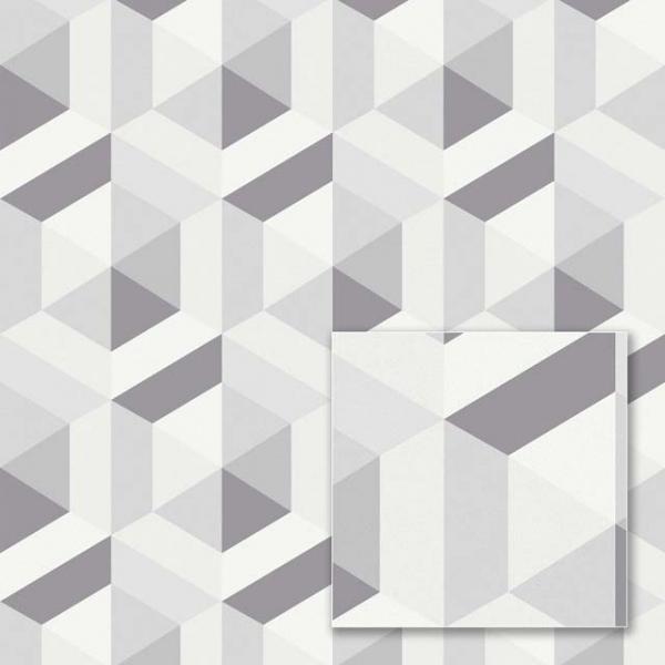 Tapet modern cu model geometric gri 0
