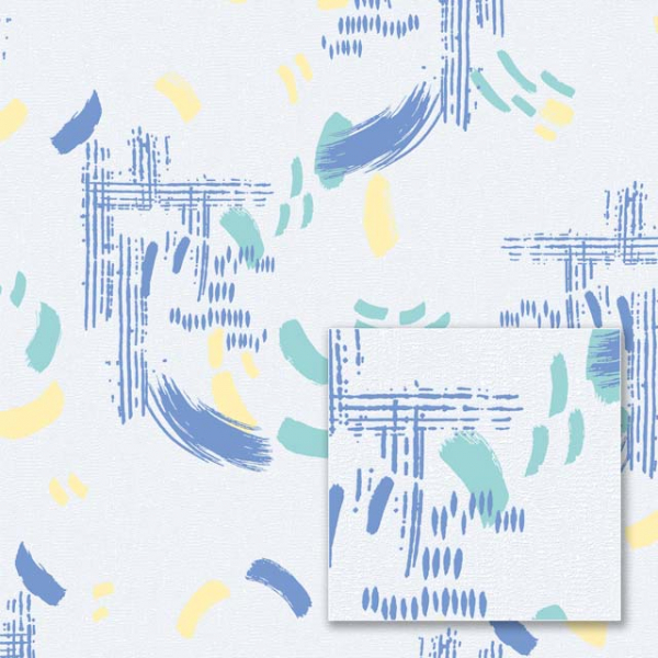 Tapet modern multicolor galben și albastru [0]